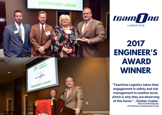 TeamOne Logistics Trucking Workers Compensation Fund Top Safety Award Winner